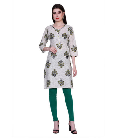 Green Color Cotton Women's Stitched Kurti - PK7017GREEN