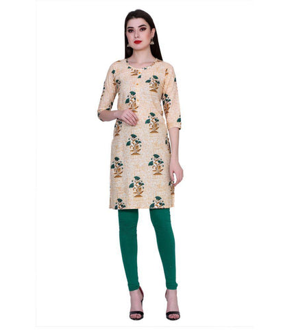 Off White Color Cotton Women's Stitched Kurti - PK7017OFFWHITE