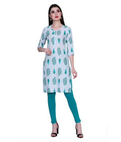 Green Color Cotton Women's Stitched Kurti - PK7018PINK