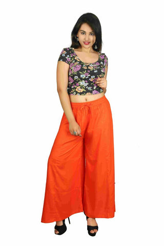 Orange Color Rayon Plazoo - PL06