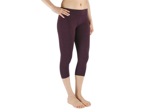 Plum Color Supplex Lycra Capri - PLUM4-CP