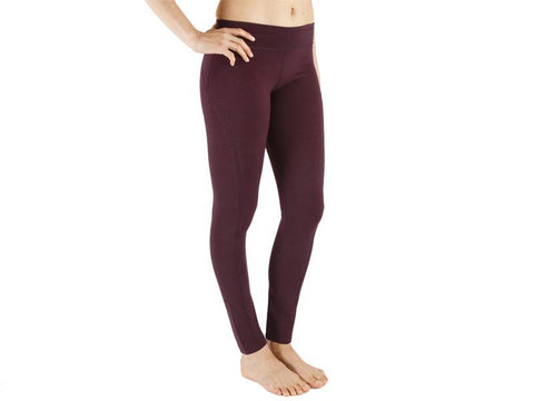 Plum Color Supplex Lycra Legging - PLUM4-LG