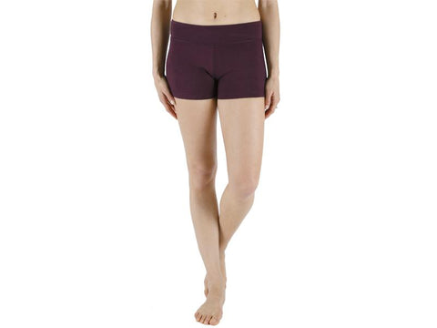 Plum Color Supplex Lycra Women Short  - PLUM1-SH