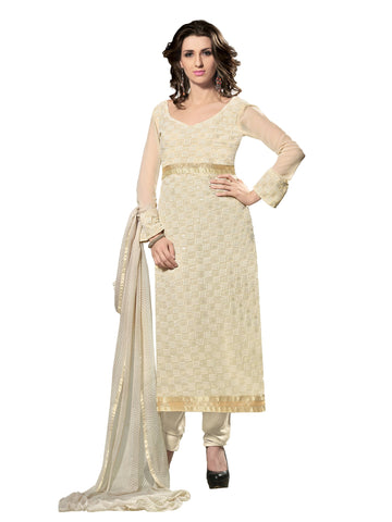 Beige Color 60 grm Georgette Semistitched Salwar - PNI1005