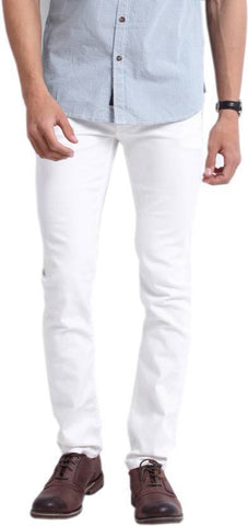 Lawson Skinny Men's White Cotton Jeans - PP-8282