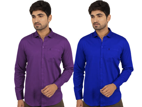 Combo Shirts Purple and Royal Blue - 1ABF-PR-RB