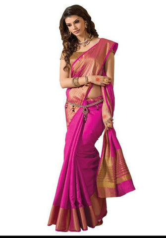 Megenta Color ArtSilk Saree - PRANAVI004MEJANTATISSUBORDERSAREE