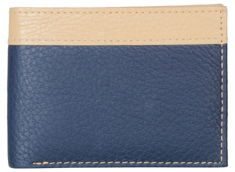 Blue Color PU Mens Wallet - PUD125
