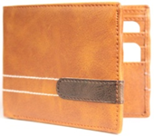 Tan Color Velvet Men's Wallet - PULUP-CC-TAN
