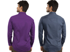 Combo Shirts Purple and Navy Blue - 1ABF-PR-NB