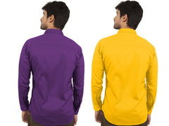 Combo Shirts Purple and Yellow - 1ABF-PR-YW