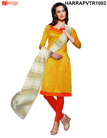 Yellow Color Bangalore Silk Dress Material - PVTR1002