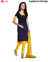 Navy Blue Color Bangalore Silk Dress Material
