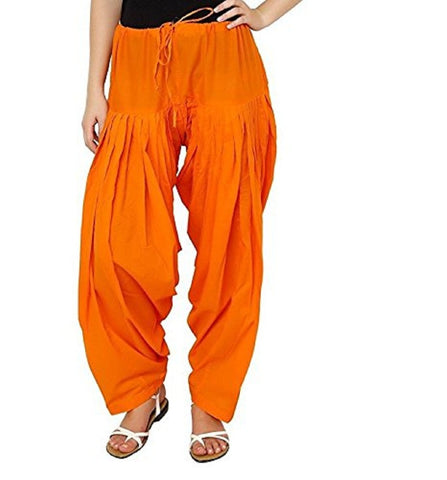 Orange Color Cotton Stitched Women Patiala Pant - Pagrakhi-Cotton-Semi-Patiala10