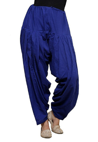 Blue Color Cotton Stitched Women Patiala Pant - Pagrakhi-Cotton-Semi-Patiala11