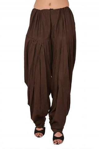 Brown Color Cotton Stitched Women Patiala Pant - Pagrakhi-Cotton-Semi-Patiala18