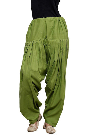 Green Color Cotton Stitched Women Patiala Pant - Pagrakhi-Cotton-Semi-Patiala19