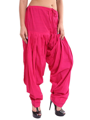 Pink Color Cotton Stitched Women Patiala Pant - Pagrakhi-Cotton-Semi-Patiala20