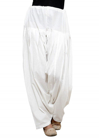 White Color Cotton Stitched Women Patiala Pant - Pagrakhi-Cotton-Semi-Patiala21