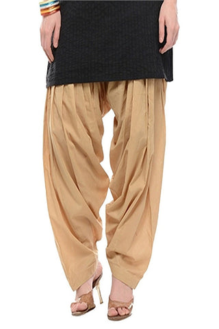 Beige Color Cotton Stitched Women Patiala Pant - Pagrakhi-Cotton-Semi-Patiala3
