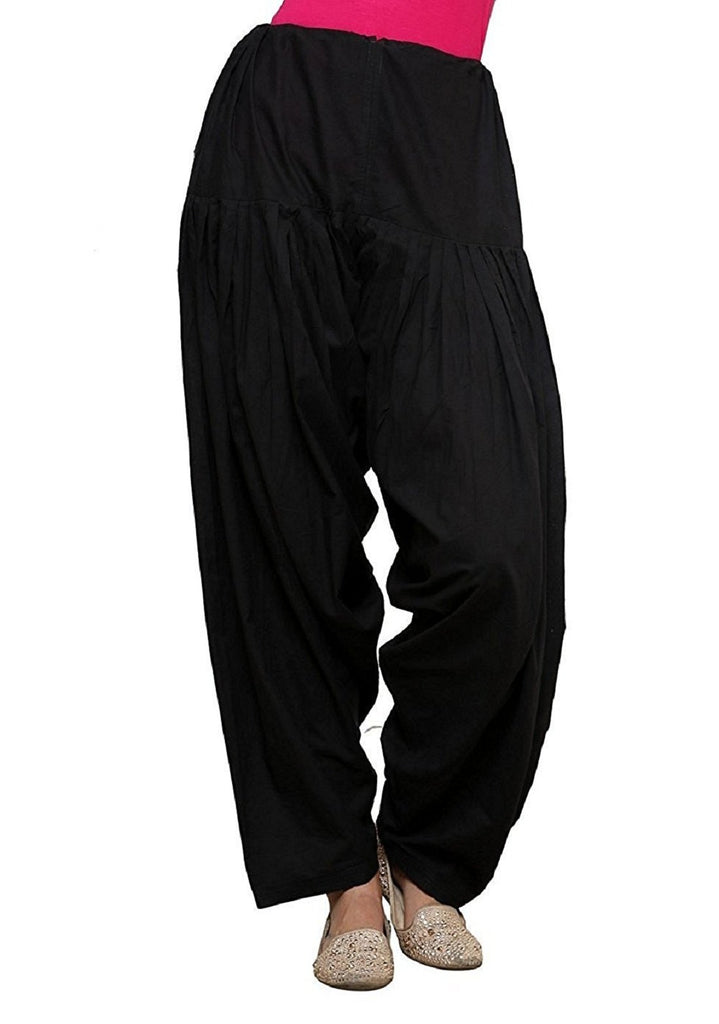 Buy Black Color Cotton Women Patiala Pant