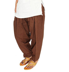 Buy Brown Color Cotton Women Patiala Pant