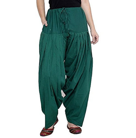Rama Green Color Cotton Stitched Women Patiala Pant - Pagrakhi-Cotton-Semi-Patiala6