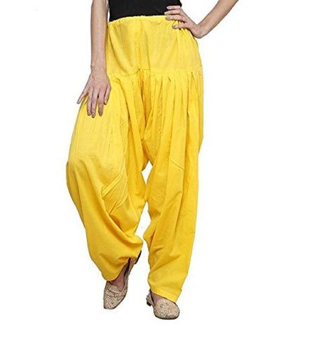 Yellow Color Cotton Stitched Women Patiala Pant - Pagrakhi-Cotton-Semi-Patiala7