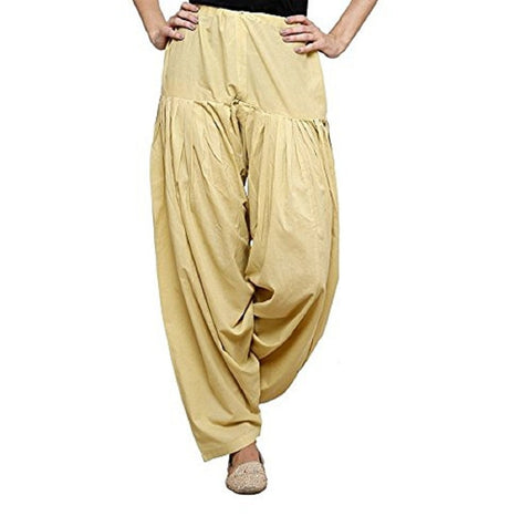 Cream Color Cotton Stitched Women Patiala Pant - Pagrakhi-Cotton-Semi-Patiala8