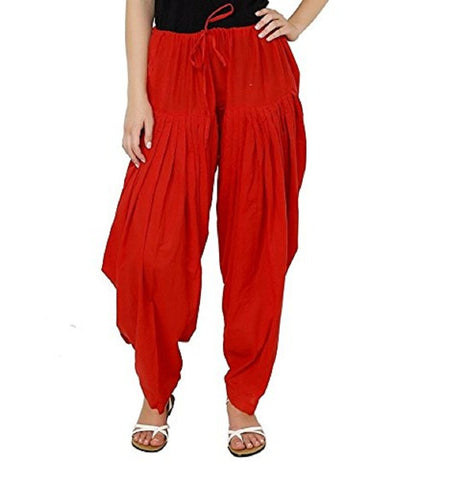 Red Color Cotton Stitched Women Patiala Pant - Pagrakhi-Cotton-Semi-Patiala9