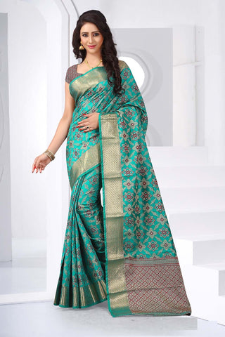Green Color Banasari Silk Saree - PatolaSilkVol02-3110