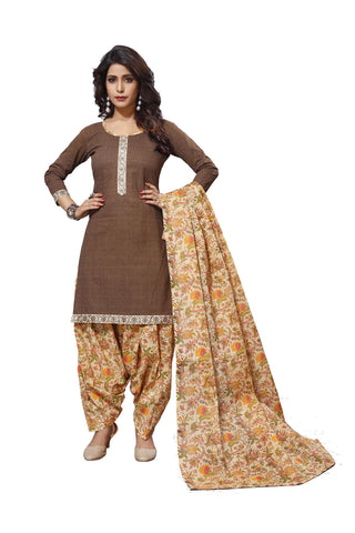 Maroon Color Cotton  Stitched Salwar  - Patyalahouse-11001