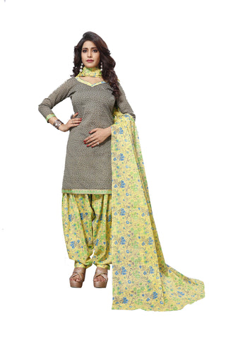 Green Color Cotton  Stitched Salwar  - Patyalahouse-11003
