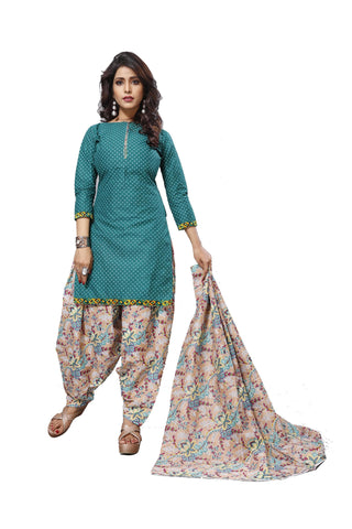Blue Color Cotton  Stitched Salwar  - Patyalahouse-11005