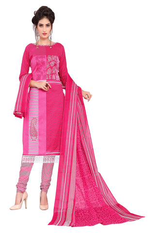 Pink Color Cotton Stitched Salwar - Pbeauty-6005