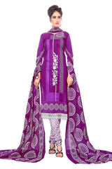 Purple Color Cotton Stitched Salwar - Pbeauty-6010