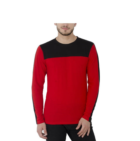 Red Color Poly Cotton Mens Tshirt - R-gents-tshirt-design-36