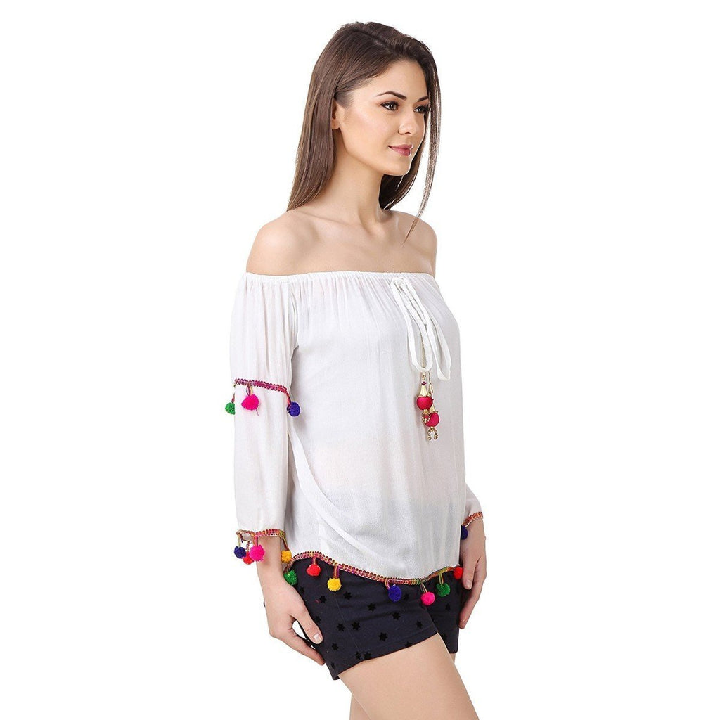 White Color Rayon Top - R2104-MAR-2017