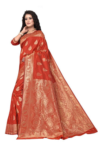 RED Color Heavy silk Dyeing material Saree - RADHARANI-06