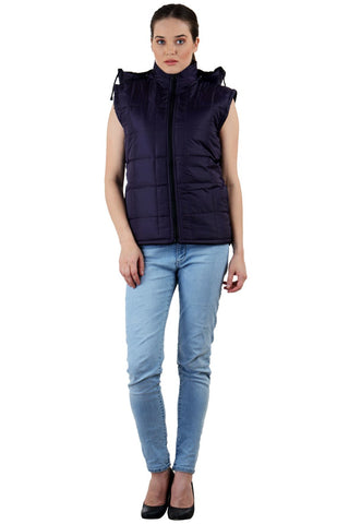 Blue Color Micro Polyster Jacket - RB-JacketInkBlue