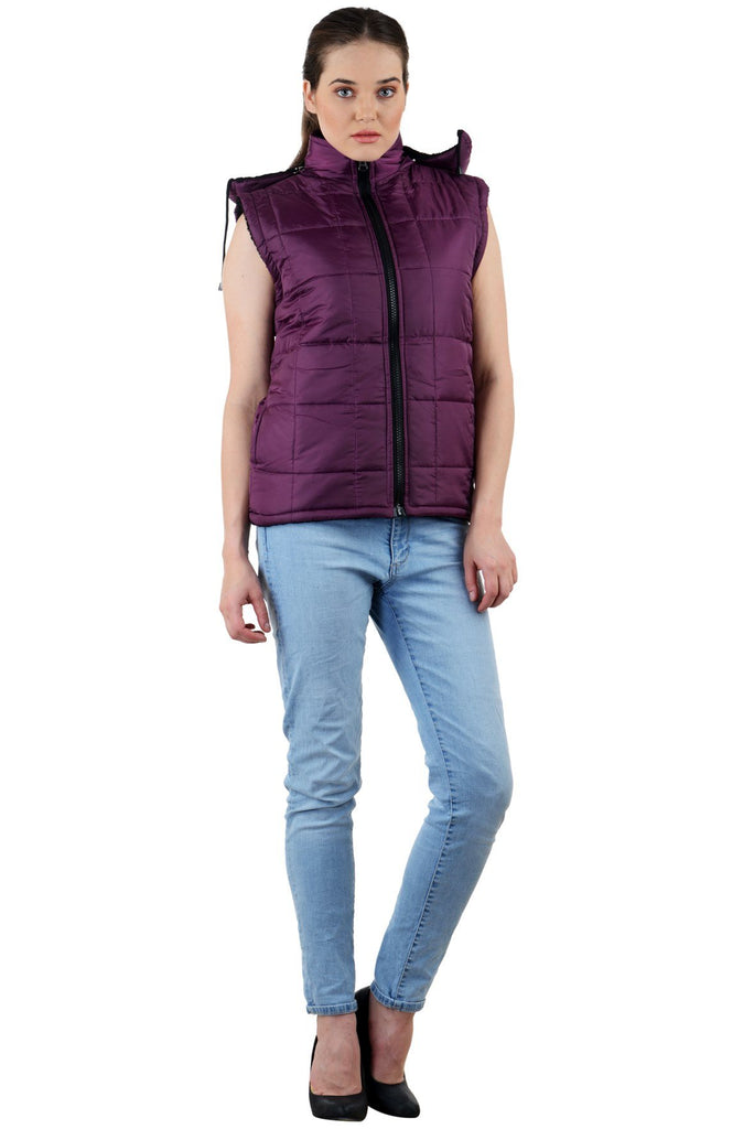 Magenta Color Micro Polyster Jacket