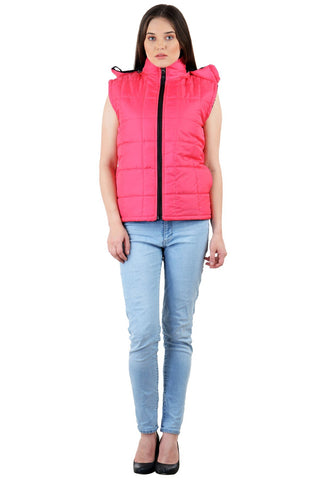 Pink Color Micro Polyster Jacket - RB-JacketPink