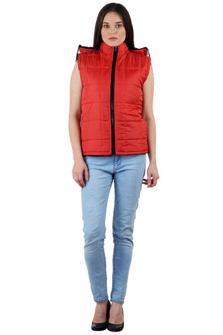 Red Color Micro Polyster Jacket - RB-JacketRed