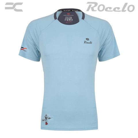 LightBlue Color Polyster T-Shirt - RC-5071