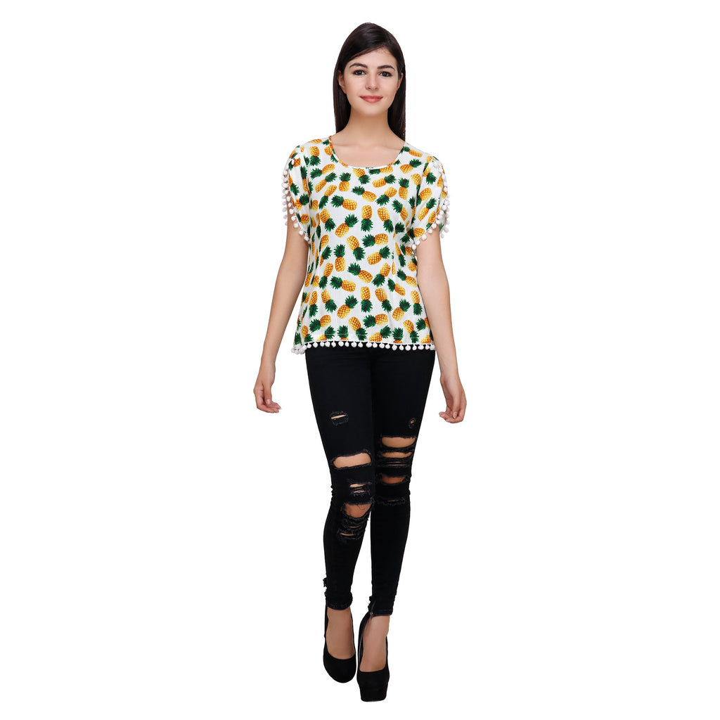 Multi Color Rayon Top