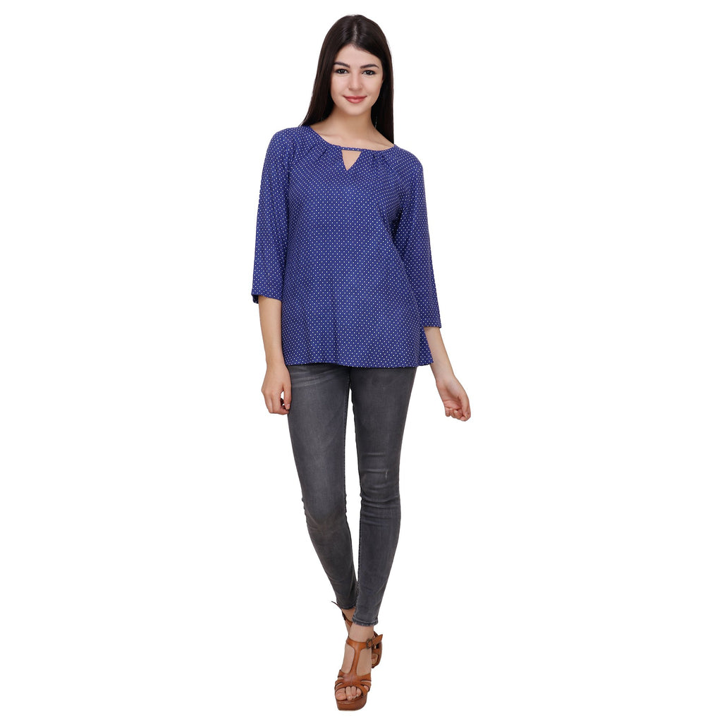 Light Blue Color Rayon Top