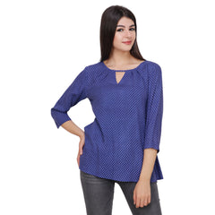 Light Blue Color Rayon Top - RCTPSS023