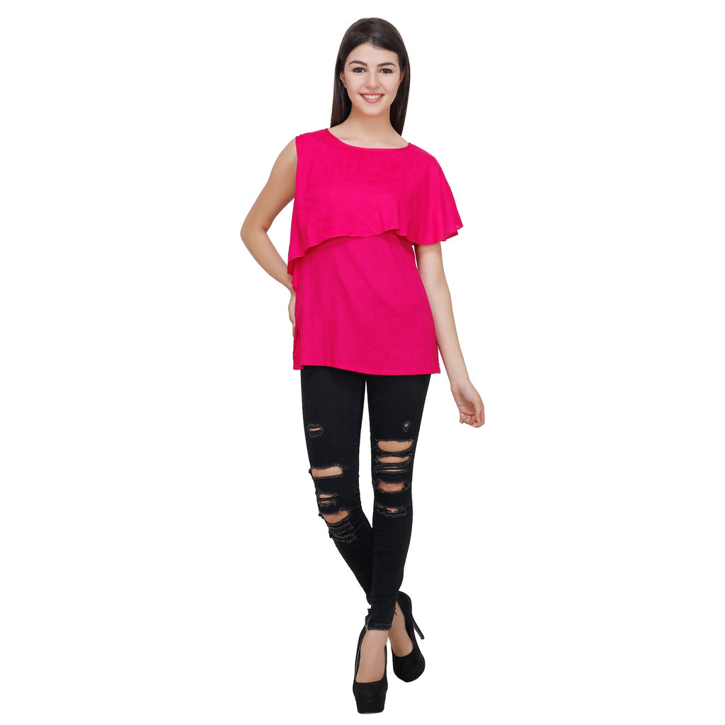 Pink Color Rayon Top