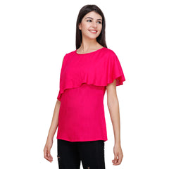 Pink Color Rayon Top - RCTPSS026