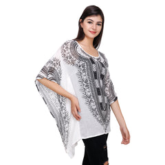 Multi Color Crepe Kaftan - RCTPSS037